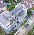 Căn biệt thự lắp đặt 20kWp pin mặt trời do Vũ Phong thi công được chủ nhà đánh giá rất thẩm mỹ